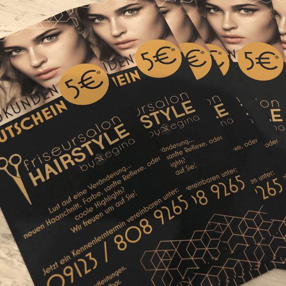 Gutschein Friseur Hairstyle by Regina Lauf Neueröffnung Kunigundenviertel Friseursalon