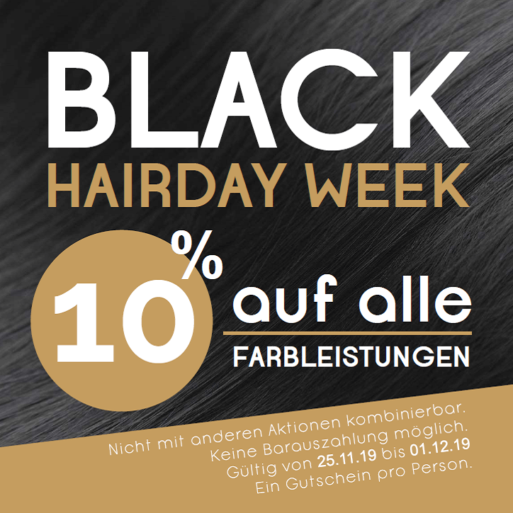 gutschein black hairday week friseur hairstyle lauf