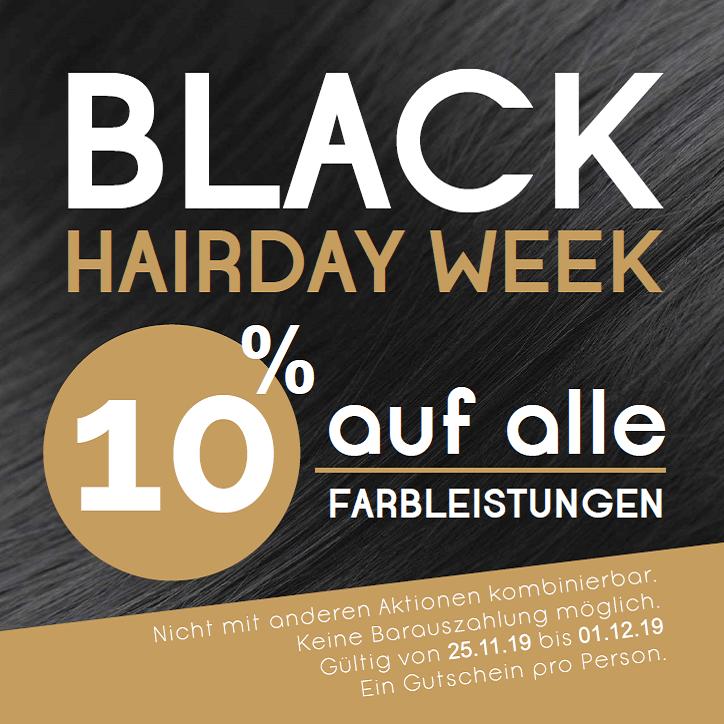 gutschein black hairday week friseur hairstyle lauf