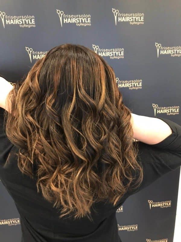 Damen Langes Haar Frisur Kundenfotos Friseur Hairstyle by Regina