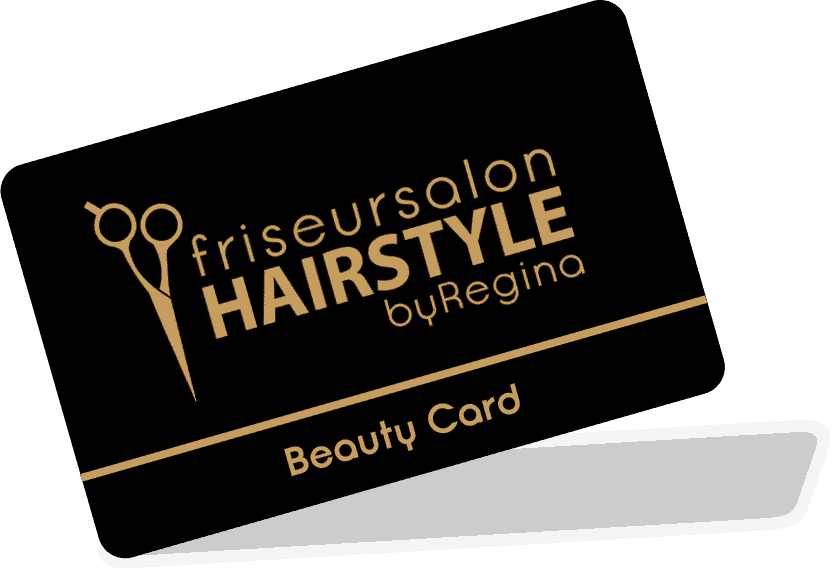 beauty card friseur hairstyle by regina transparent