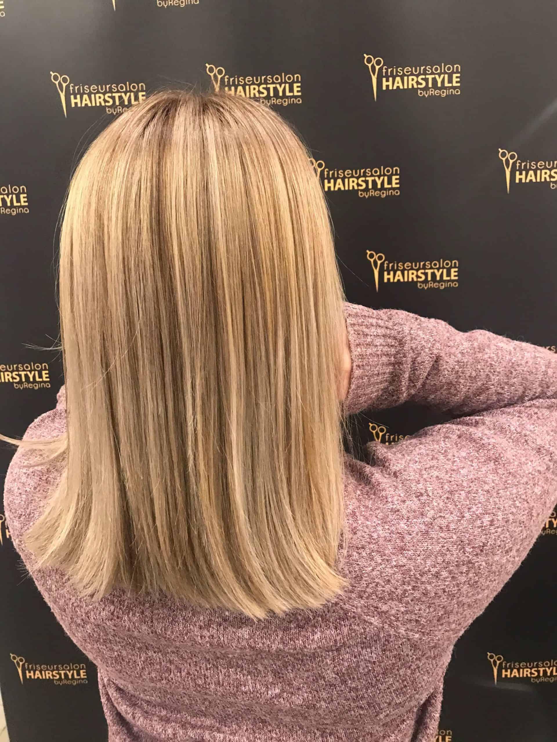 strähnen und Farbe Friseur Lauf