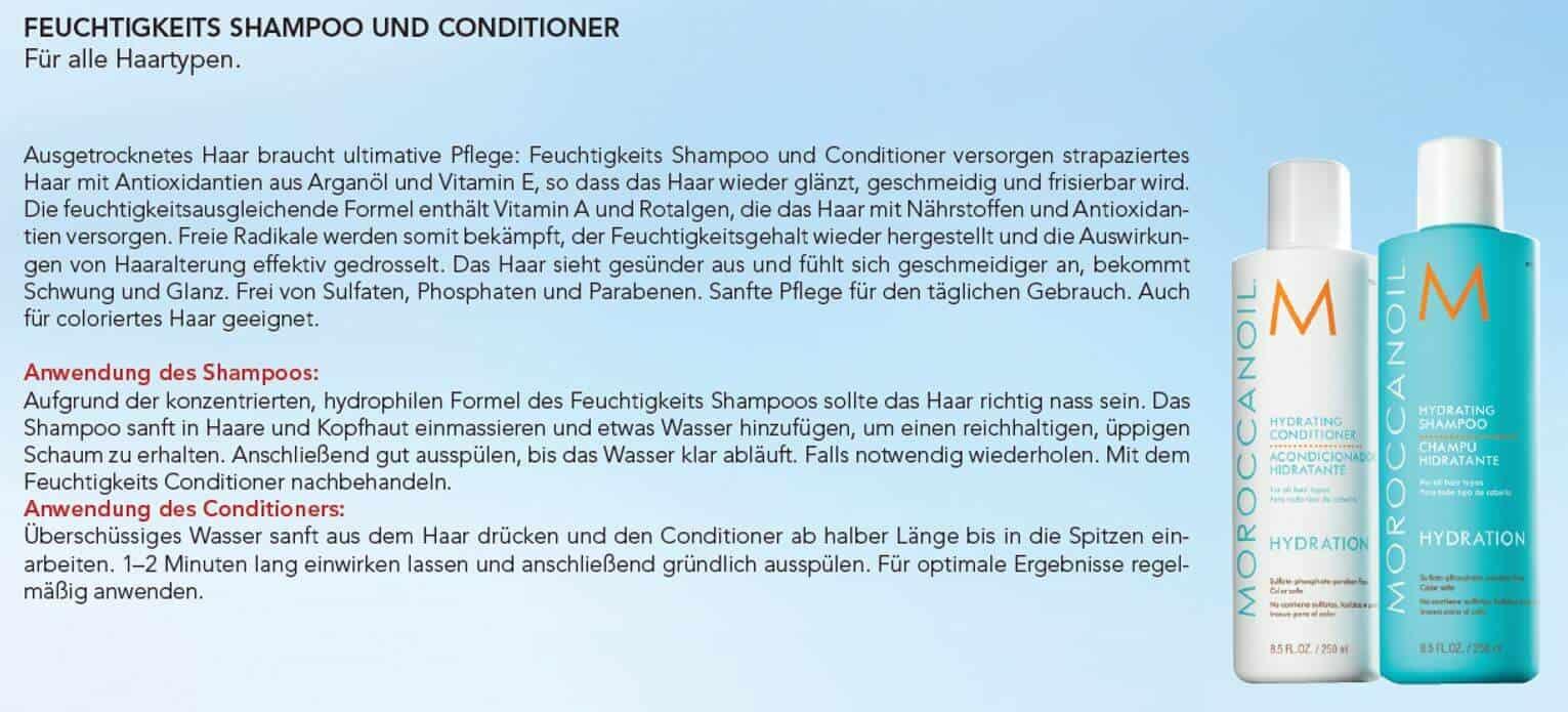 moroccanoil shampoo und conditioner